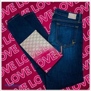 BeBe Dark Denim Skinny Jeans
